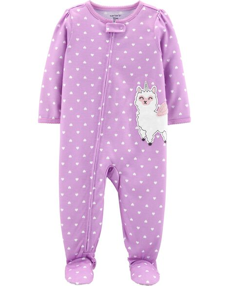 03650a29359248 Display product reviews for 1-Piece Llama Unicorn Poly Footie PJs