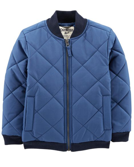 Display product reviews for Quilted Bomber Jacket