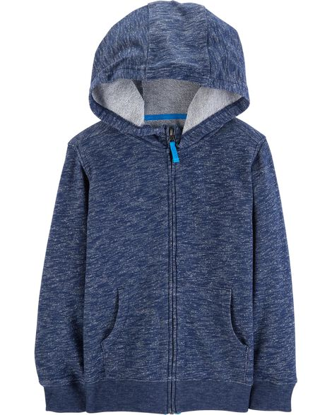 Display product reviews for Marled Yarn Zip-Up Slub Hoodie