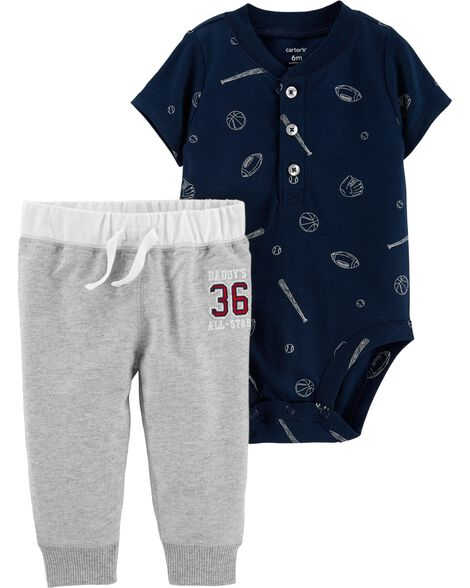 1f007cceaeed Display product reviews for 2-Piece Baseball Bodysuit Pant Set