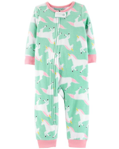 Display product reviews for 1-Piece Unicorn Fleece Footless PJs