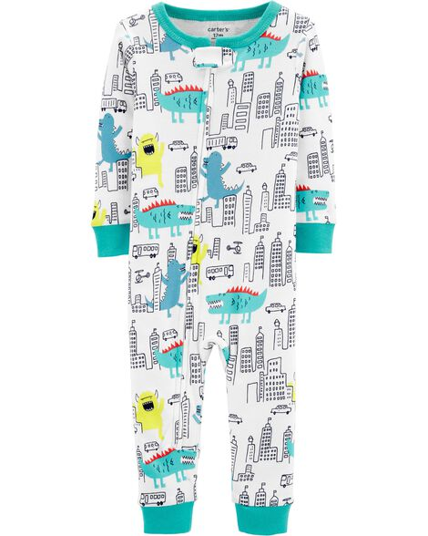 Display product reviews for 1-Piece Monster Snug Fit Cotton Footless PJs