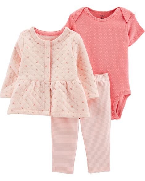 8e0323959 Display product reviews for 3-Piece Quilted Little Jacket Set