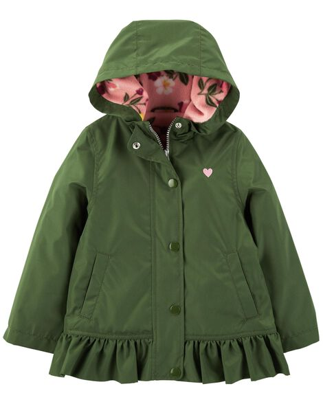 Display product reviews for Heart Fleece-Lined Rain Jacket