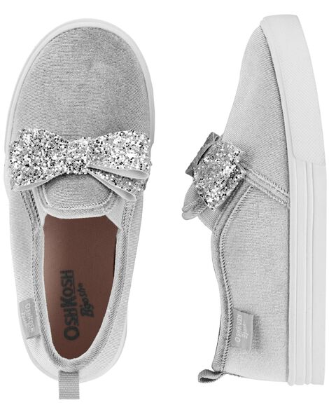 Display product reviews for OshKosh Glitter Bow Slip-On Shoes