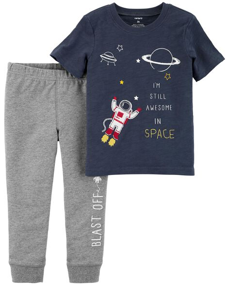 Display product reviews for 2-Piece Space Tee & French Terry Jogger Set