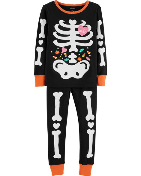 Display product reviews for 2-Piece Glow-In-The-Dark Halloween Snug Fit Cotton PJs