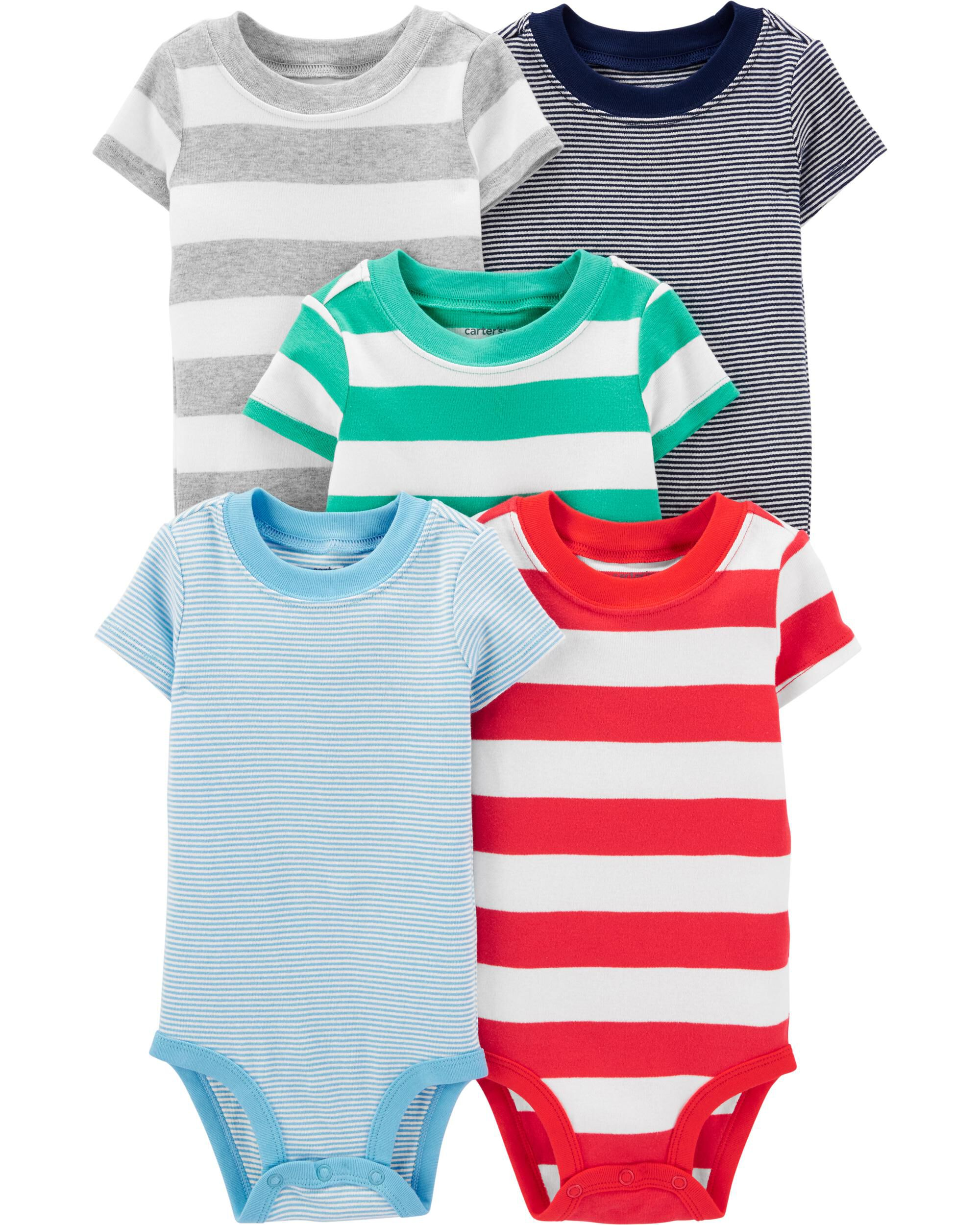 New Carter/'s Boys 3 Pack Henley Thermal Red Penguin Bodysuits Tops NWT 3 12m 24m