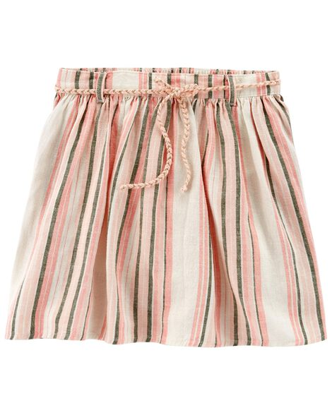 Display product reviews for Striped Linen Skort