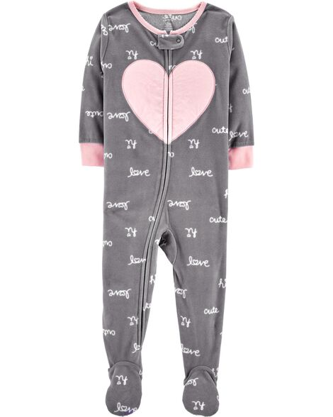 Display product reviews for 1-Piece Heart Fleece PJs
