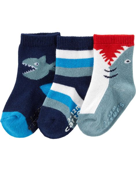 Display product reviews for 3-Pack Shark Crew Socks