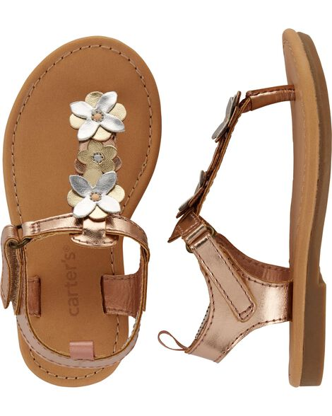 Display product reviews for Carter's Metallic Floral Sandals
