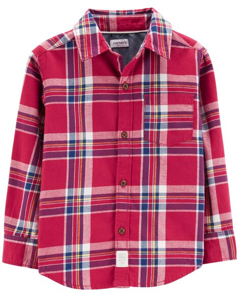 Display product reviews for Plaid Flannel Button-Front Shirt