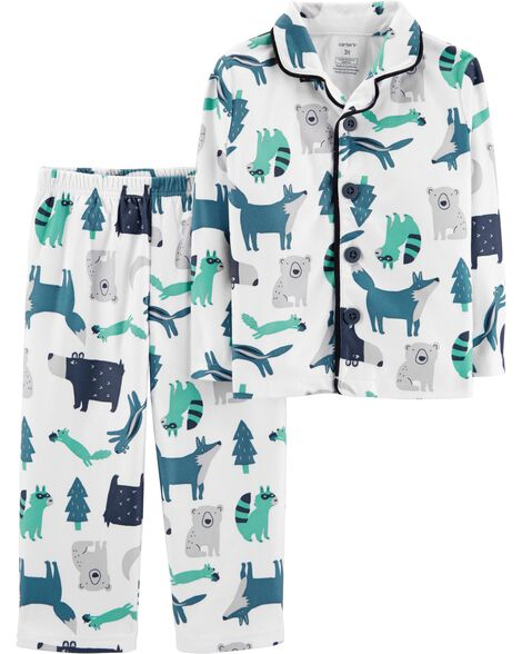 Display product reviews for 2-Piece Woodland Creature Coat Style Fleece PJs