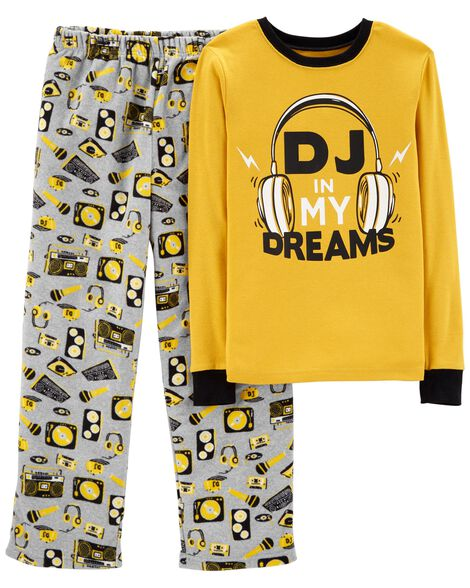 efcb0eda5cae 2-Piece DJ Cotton   Fleece PJs