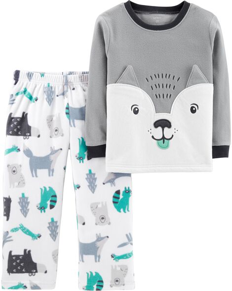 Display product reviews for 2-Piece Wolf Fleece PJs