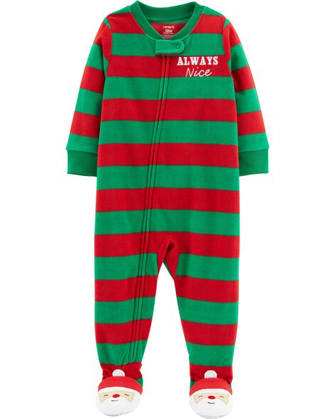 Display product reviews for 1-Piece Baby Christmas Fleece PJs