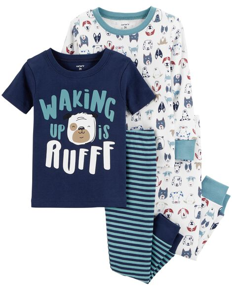 Display product reviews for 4-Piece Dog Snug Fit Cotton PJs