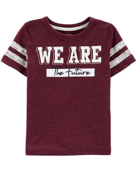 Display product reviews for We Are The Future Snow Yarn Varsity Tee