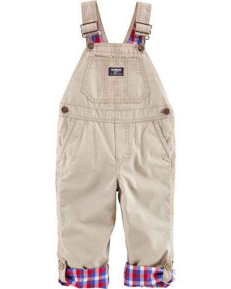 Display product reviews for Plaid-Lined Overalls