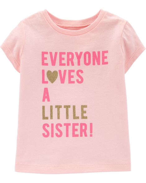 Display product reviews for Glitter Little Sister Jersey Tee