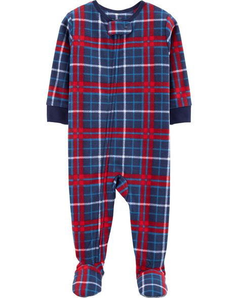 Display product reviews for 1-Piece Plaid Fleece PJs