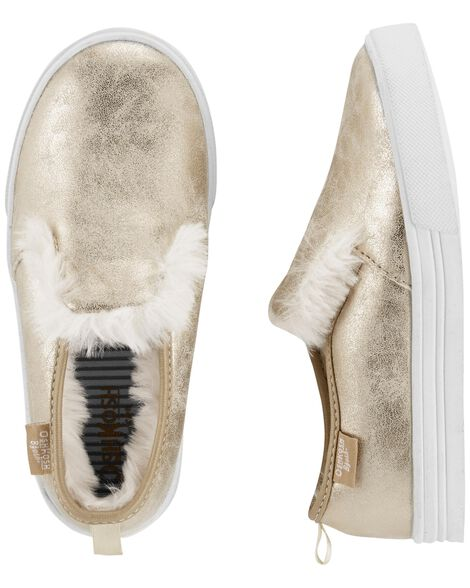 Display product reviews for OshKosh Gold Sherpa Slip-Ons