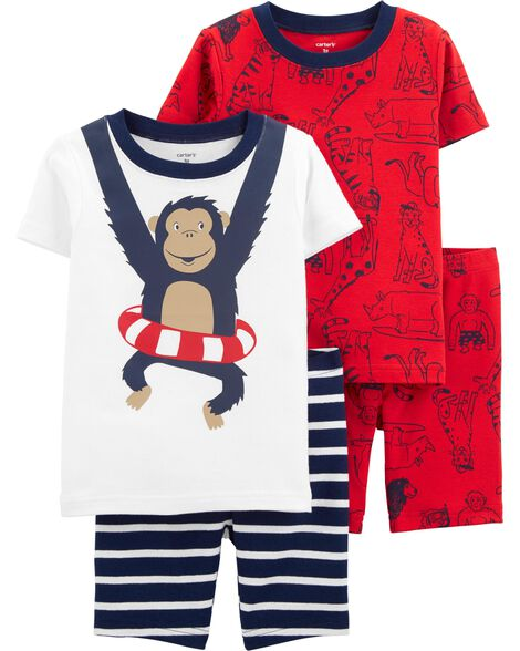 8a74829855 Display product reviews for 4-Piece Monkey Snug Fit Cotton PJs
