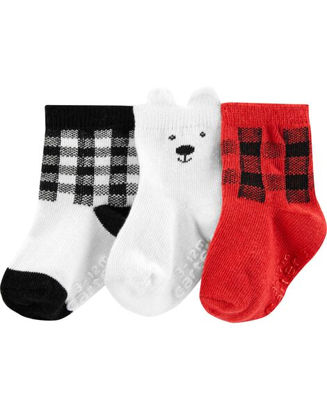 Display product reviews for 3-Pack Bear Crew Socks