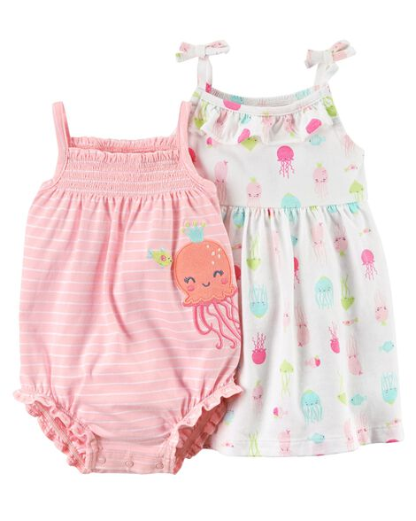 Display product reviews for 2-Piece Octopus Dress & Romper Set