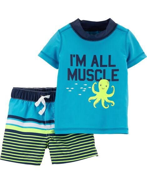 acdcc2685f0a8 Baby Boy Swimwear: Trunks & Rashguards | Carter's | Free Shipping