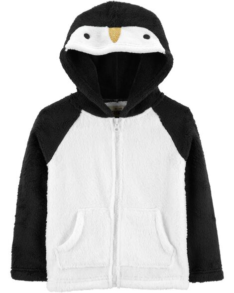 Display product reviews for Fuzzy Penguin Hoodie