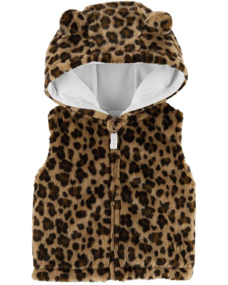 Display product reviews for Faux Fur Leopard Vest