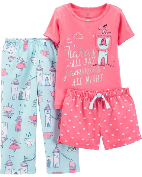 Display product reviews for 3-Piece Princess Poly PJs