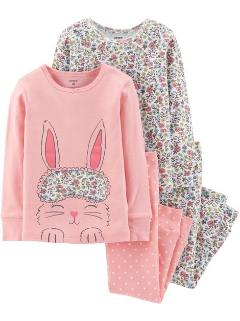 Display product reviews for 4-Piece Bunny Snug Fit Cotton PJs