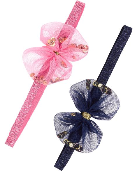 Display product reviews for 2-Pack Tulle Bow Headwraps