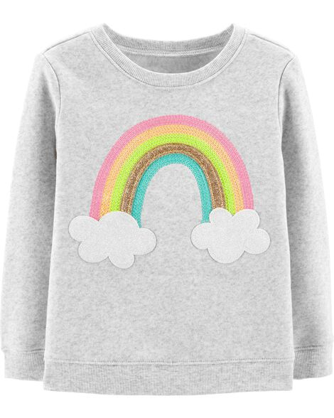 Display product reviews for Glitter Rainbow Pullover