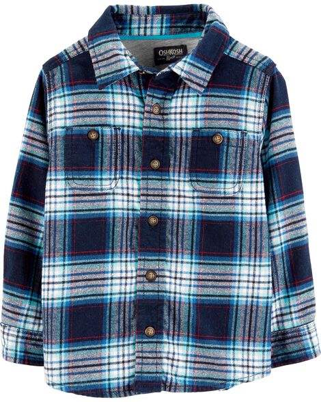 Display product reviews for Button-Front Flannel Shirt