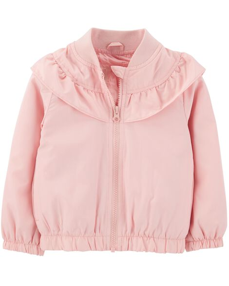 Display product reviews for Ruffle Bomber Jacket