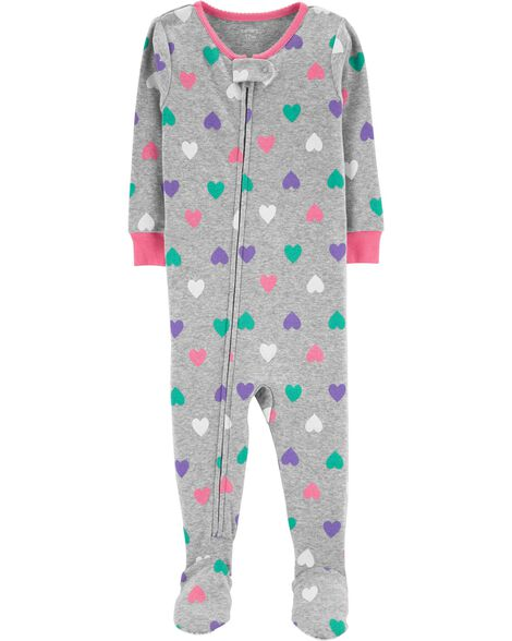 Display product reviews for 1-Piece Hearts Snug Fit Cotton PJs