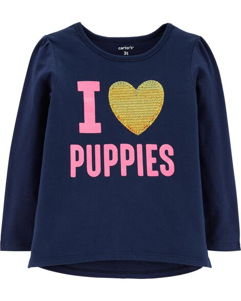 Display Product Reviews For I Love Puppies Glitter Tee