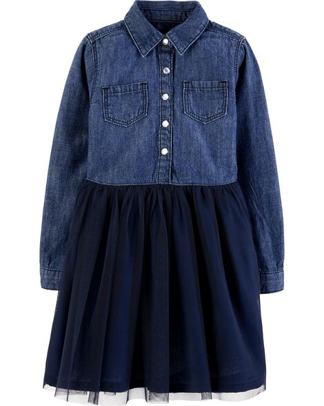 Display product reviews for Tulle Denim Dress