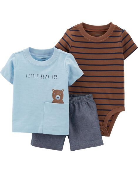f5ad3689c Display product reviews for 3-Piece Bear Little Short Set