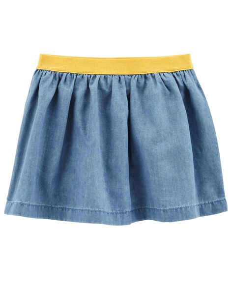 Display product reviews for Flowy Denim Skirt