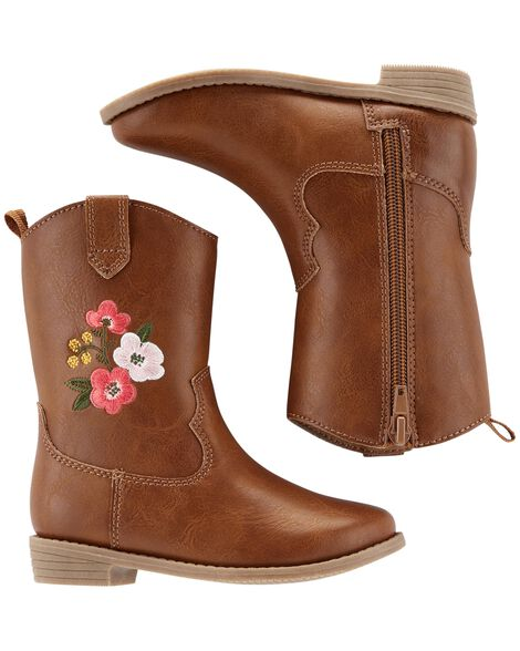 Display product reviews for Carter's Embroidered Cowgirl Boots