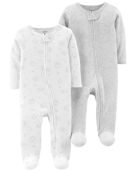 Display product reviews for 2-Pack Zip-Up Cotton Sleep & Play