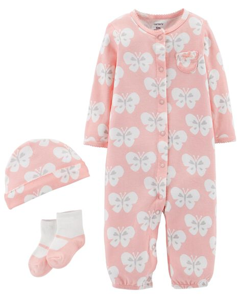 Display product reviews for 3-Piece Babysoft Converter Gown Set