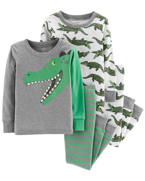 Display product reviews for 4-Piece Alligator Snug Fit Cotton PJs