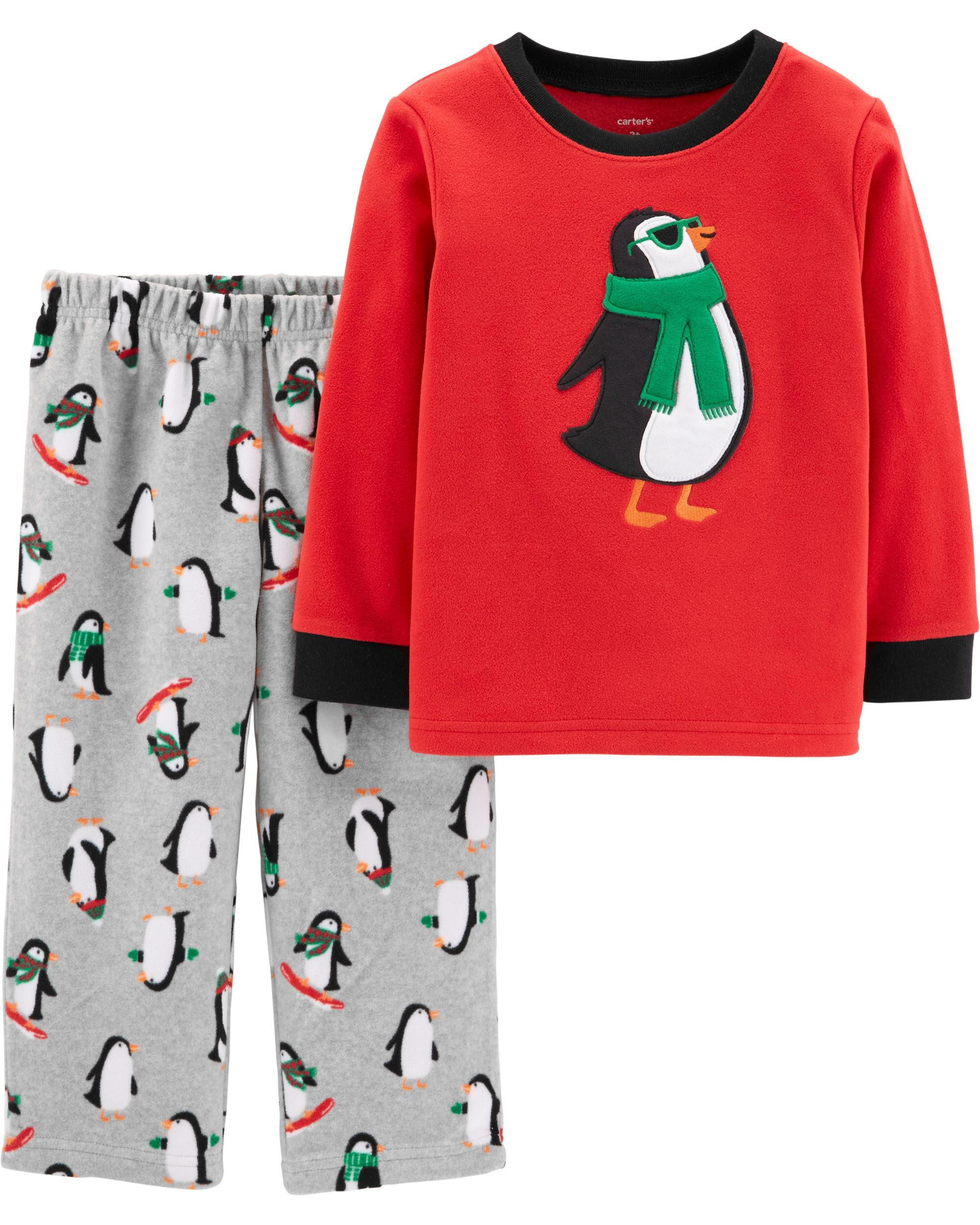 Carters Nwt 18 Months Santa Pink Tree Christmas Footed Fleece Pajama Girls Available In Various Designs And Specifications For Your Selection Girls' Clothing (newborn-5t) Clothing, Shoes & Accessories
