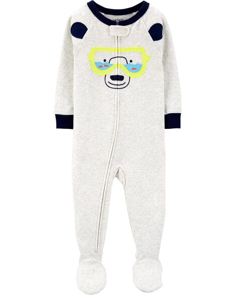 9221fcb18 Display product reviews for 1-Piece Bear Snug Fit Cotton Footie PJs